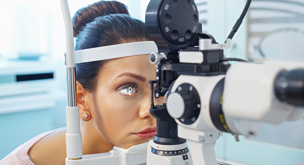 Szemészeti helyszín a szemészek számára